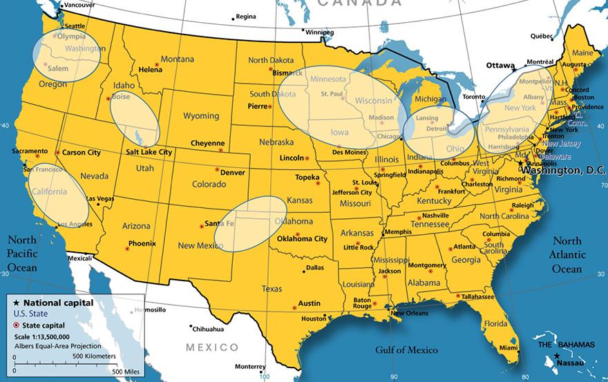 U.S. milk sheds