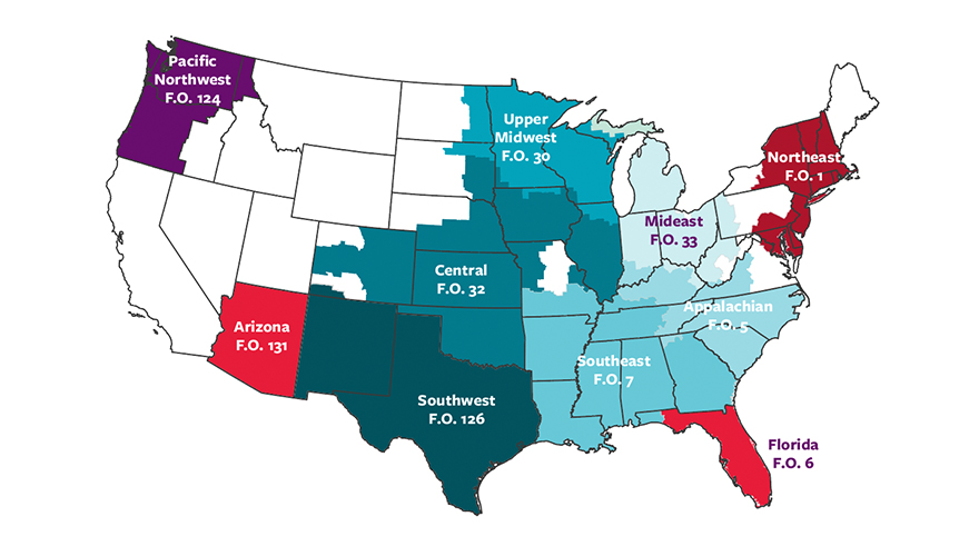 U.S. Federal Milk Marketing Order regions
